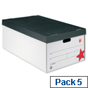 Jumbo Storage Box Black and White 5 Pack 5 Star