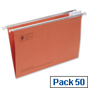 Red Suspension File Foolscap Heavyweight with Tabs and Inserts 5 Star Pack 50