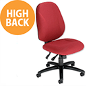 Trexus Intro Maxi Asynchronous High Back Office Chair Claret