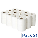 2Work 2 Ply White Micro Twin Toilet Paper Roll 125m JWH102