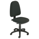 Trexus Office Operator Chair Permanent Contact High Back H500m W460xD430xH460-580mm Charcoal