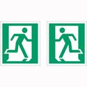Stewart Superior Safe Condition & Fire Equipment Sign Running Man Left XL Man Right XL 150x135mm