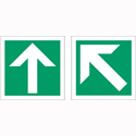 Stewart Superior Safe Condition & Fire Equipment Sign Diagonal Arrow x1 Straight Arrow x1 150x150mm