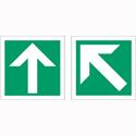 Stewart Superior Safe Condition & Fire Equipment Sign Diagonal Arrow x1 Straight Arrow x1 150x150mm