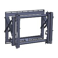 Vogels - PFW 6870 video wall pop-out landscape mounting kit, fitment min 200 x 200 mm, max 600 x 400 mm. leveling, height, lateral, and depth adjustment. Spring-loaded pop-out mechanism. Max weight - Safety VSS-3 72kg /160 lbs