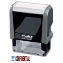 Trodat Confidential Stamp Self-inking 18 x 46mm Red and Blue 43240