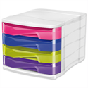 CEP 4 Drawer Organiser Multicolour Recycled