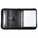 A4 Portfolio Case With Ring Binder Black Leather Look Zipped Alassio
