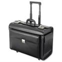 Leather Pilot Case Trolley Black Laptop Compartment 2 Combination Locks Alassio Silvana