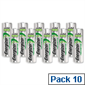 Energizer AA Battery Rechargeable NiMH 2000mAh HR6 1.2V Pack 10