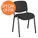 Multipurpose Fabric Upholstered Stacking Chair Charcoal Trexus Budget