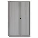 Bisley Tambour Cupboard Grey Steel Side-Opening W1000xD470xH1651mm AST65W-73