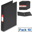 5 Star Ring Binder PVC 2 O-Ring Size 25mm A4 Black [Pack 10]