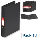 5 Star Ring Binder PVC 2 O-Ring Size 25mm A4 Black [Pack 10]