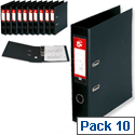 A4 Black PVC Lever Arch File 5 Star Pack 10