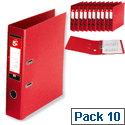 A4 Red Lever Arch File PVC 5 Star Pack 10
