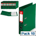 A4 Green Lever Arch File PVC 5 Star Pack 10