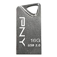 PNY T3 Attache USB Flash Drive 16GB USB 3.0 Steel