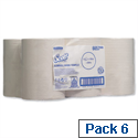 Scott White Slimroll 1 Ply Paper Hand Towel Roll (Pack of 6) 6657