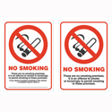 Stewart Superior No Smoking Sign for Windows Self-Adhesive Double Sided Vinyl A6 Ref SCPO004