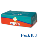 Wallace Cameron Alcohol-free Wipes for all First Aid Kits Pack of 100