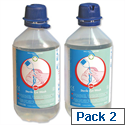 Wallace Cameron Sterile Eyewash Water Bottles for Eye Care Dispensers Pack of 2 500ml Bottles