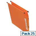 Bantex Linking Lateral Suspension File 330mm Kraft 210gsm Square-base 300 Sheet Capacity Orange Ref 100330744 [Pack 25]