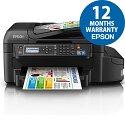 Epson EcoTank ET-4550 Wireless 4 in 1 Multifunction Printer Duplex LAN 2 Set of Inks