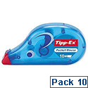 Tippex Pocket Mouse Correction Tape Roller 4.2mmx10m Pack 10 Ref 820789