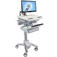 Ergotron Cart LCD Display Keyboard Mouse Notebook Scanner Medical Capacity: 17.7 kg