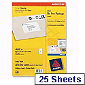 Avery Smartstamp Inkjet Online Postage Labels 63.5 x 38mm and 135 x 38mm J5102-25 [Pack of 350]