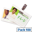 GBC ID Badge Laminating Pouches 250 Micron - 67x98.5mm Pack 100