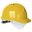 Martcare MK7 Vented Safety Helmet Terylene Harness Ventilated Yellow Ref AHN120-100-2G1