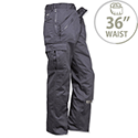 Portwest Action Work Trousers Polycotton Reinforced Multiple-Pockets Regular 36in Navy Ref S887REGNAVY36