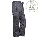 Portwest Action Work Trousers Polycotton Reinforced Multiple-Pockets Tall 32in Navy Ref S887TALLNAVY32