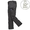 Portwest Combat Work Trousers Kingsmill Fabric Multiple-Pockets Regular 32in Navy Ref C701NAVY32
