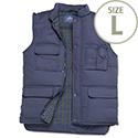 Portwest Body Warmer Vest Polyester & Cotton 2-Pockets Navy Large Ref S414NAVYLGE