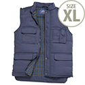 Portwest Body Warmer Vest Polyester & Cotton 2-Pockets Navy Extra Large Ref S414NAVYXLGE