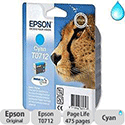 Epson T0712 Cyan Ink Cartridge Cheetah Series C13T07124010