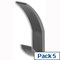 Acorn Hat and Coat Hooks Concealed Fixings with Screws and Wall Plugs Graphite 385150 Pack 5
