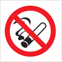 Stewart Superior Sign Self-adhesive Vinyl - No Smoking Vehicle - Double-Sided White Ref SB013