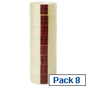 3M Scotch Easy Tear Transparent Tape 19mmx33m Ref ET1933T8 [Pack 8]