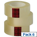 3M Scotch Easy Tear Transparent Tape 24mm x 33mm ET2433T6 Pack 6