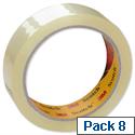3M Scotch Easy Tear Transparent Tape 19mmx66m Ref ETET1966T8 [Pack 8]