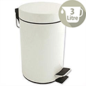 Pedal Bin with Removable Inner Bucket 3 Litres White