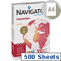 Navigator High Quality Presentation Printer Paper 100gsm A4 White 500 Sheets