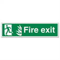 Stewart Superior Safe Condition & Fire Equipment Sign Fire Exit Man to Left 150x600mm Self-Adhesive Vinyl