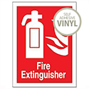 Stewart Superior Self Adhesive Fire Extinguisher Vinyl Sign 200x150mm