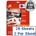 Avery L4795-20 Printable Business Tent Card White 2 per Sheet 180x60mm 40 labels