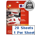 Avery L4796-20 Printable Business Tent Card White 1 per Sheet 210x60mm 20 labels